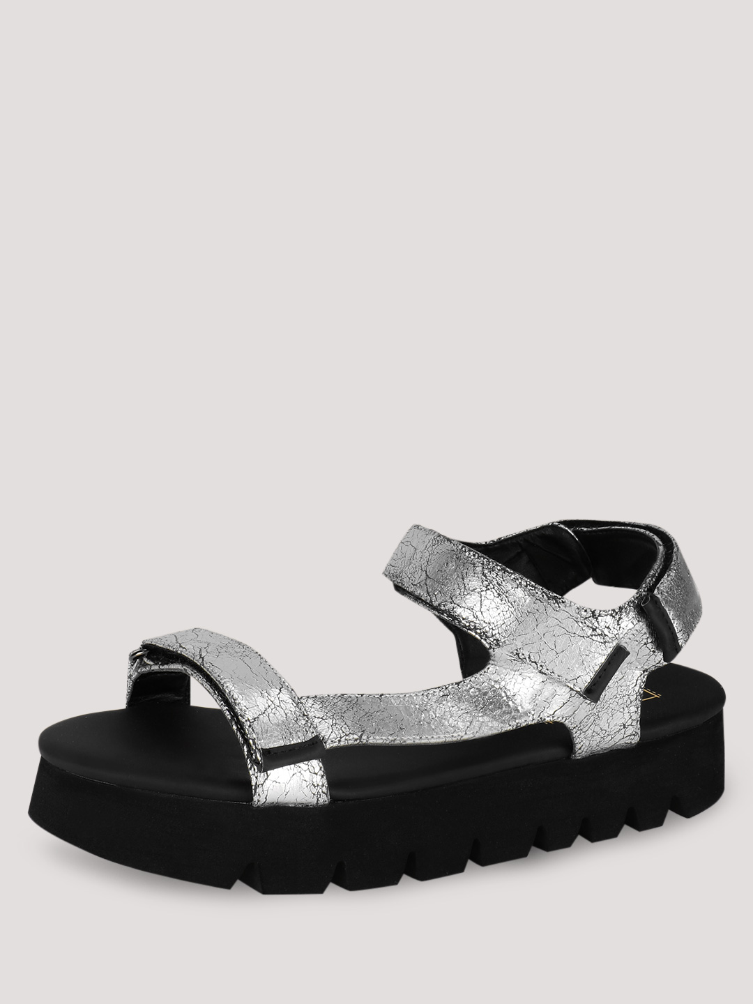 Truffle Collection Silver Flatform Sandals 1