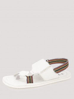 Tread Ring Sandals with Contrast Band