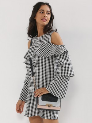 INFLUENCE Gingham Check Cold S...