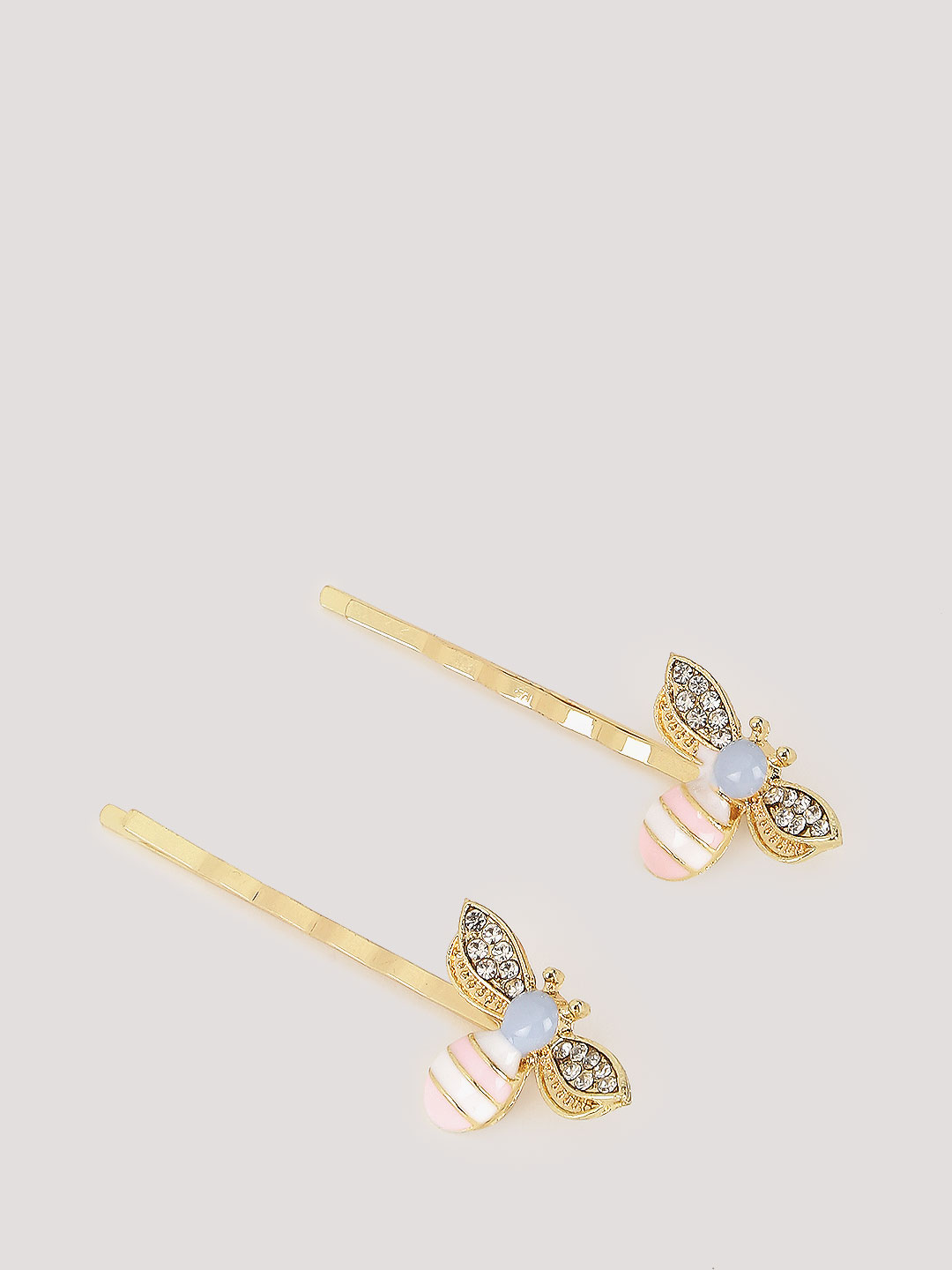 Blueberry Gold Bee Hair Pins (Set Of 2) 1