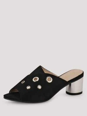 SOLE STORY Mid Heel Mules With...