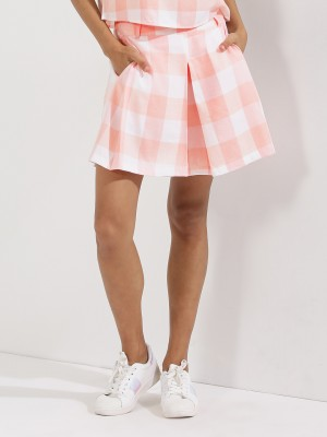 EVAH LONDON Pastel Gingham Sho...