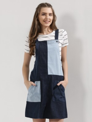 EVAH LONDON Dungaree With Cut ...