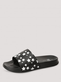 New Look Star Print Sliders