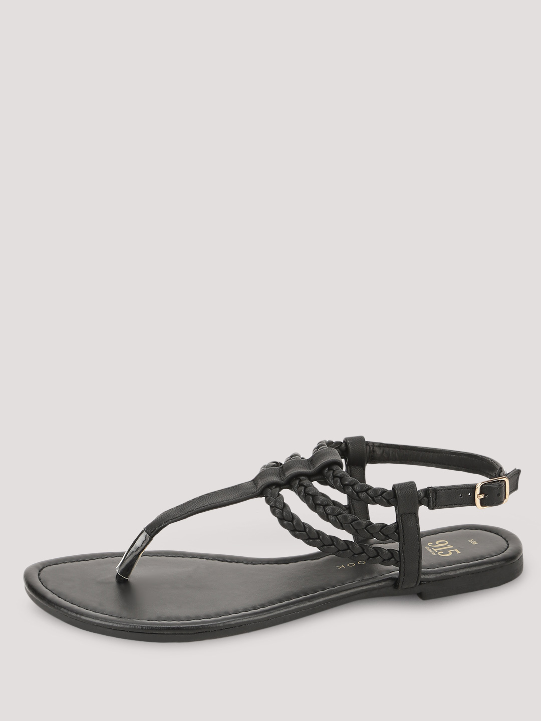 New Look Black Braided Flat Sandals 1