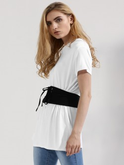 Femella Jersey T-Shirt With Corset Belt