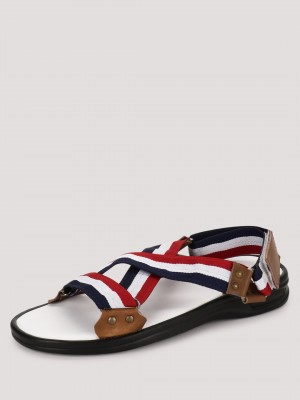 GRIFFIN Sandals With Tricolor ...