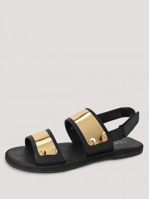 GRIFFIN Sandals With Metallic ...