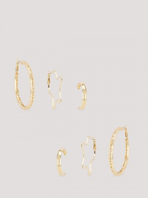 ERISTONA Gold Tone Hoops ( Set...