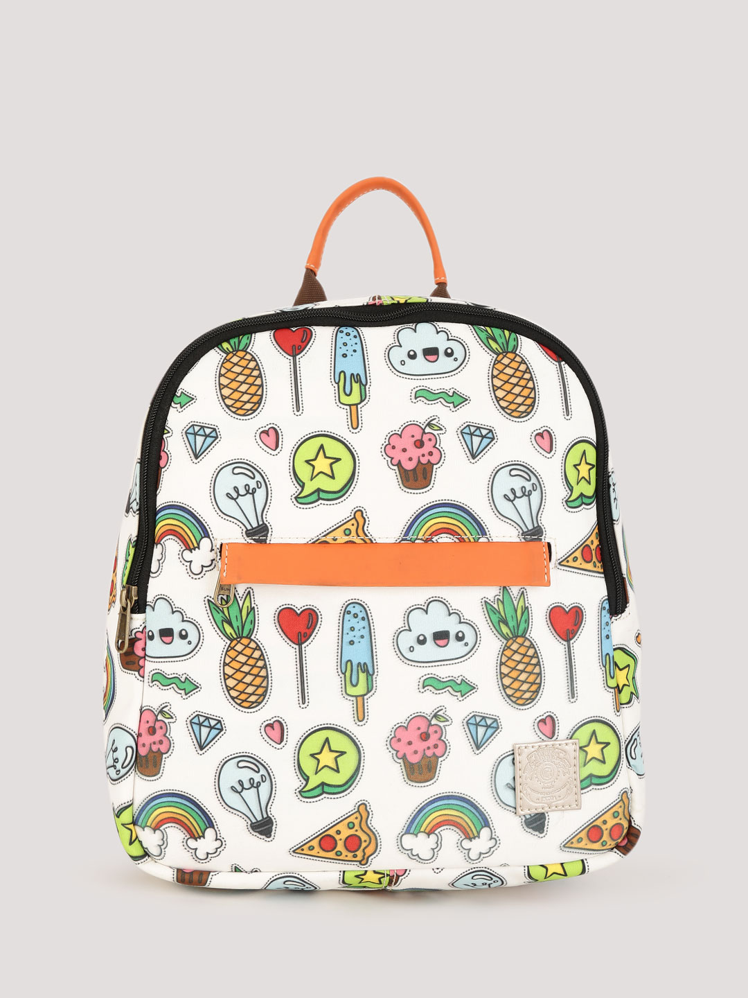 Gusto Multi Quirky Print Backpack 1