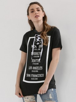 Urban Bliss Graphic Lace Up T-Shirt