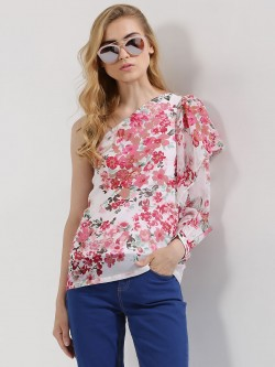 Closet Drama One Shoulder Floral Top