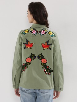Liquor n Poker Oversized Military Shirt Jacket