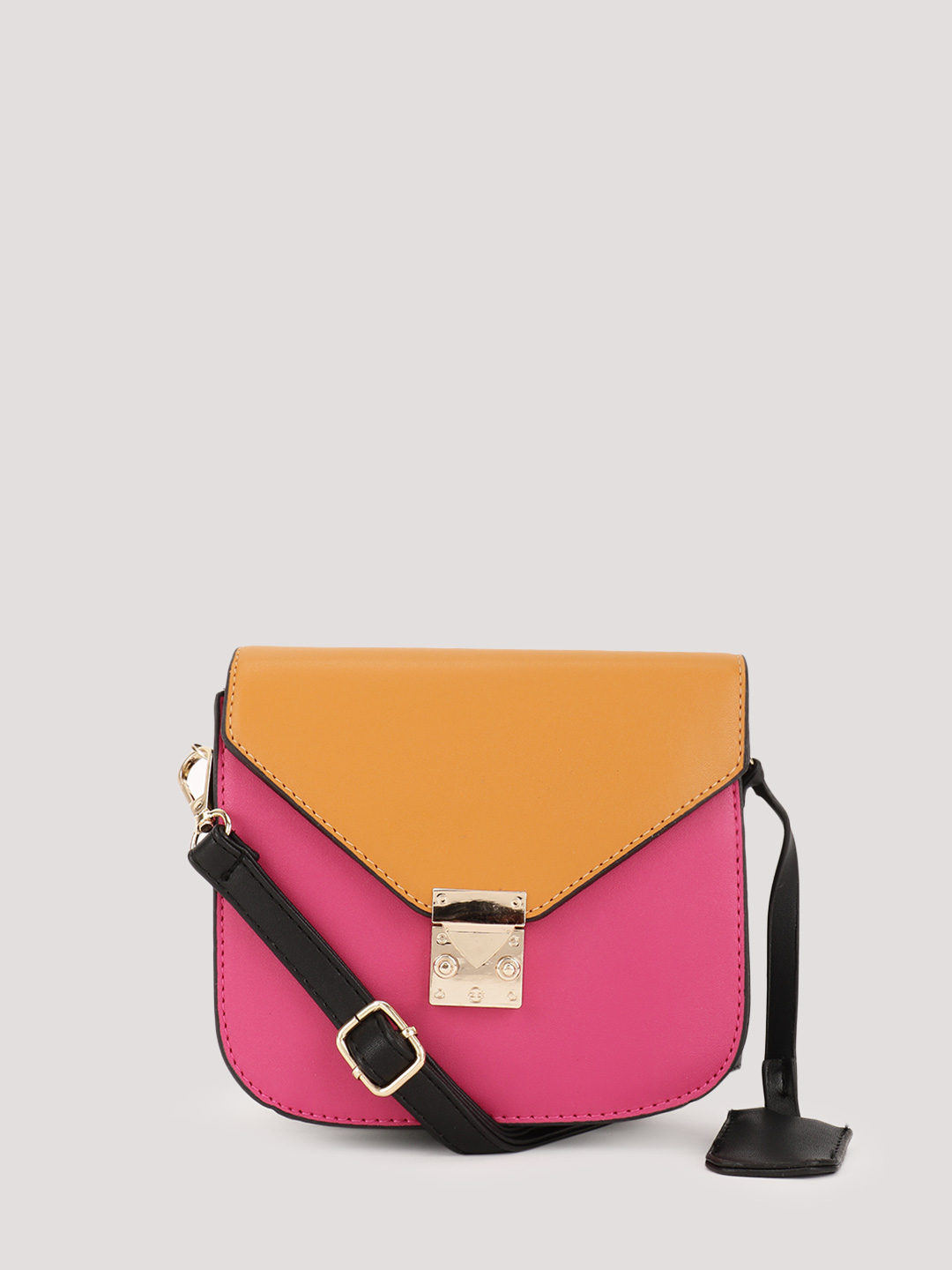Origami Lily Pink Colour Blocked Sling Bag 1