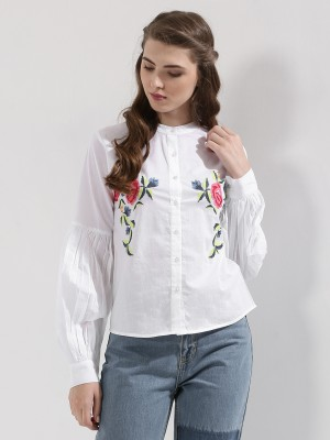 RENA LOVE Embroidered Shirt...