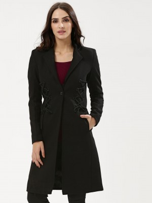 KOOVS Corset Coat With Lace De...