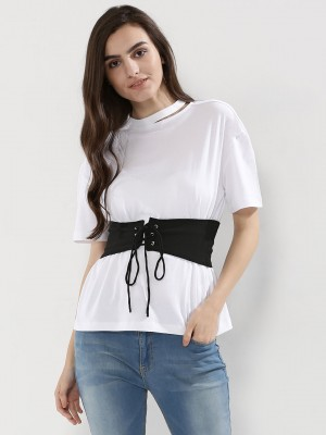 KOOVS T-Shirt With Contrast Co...