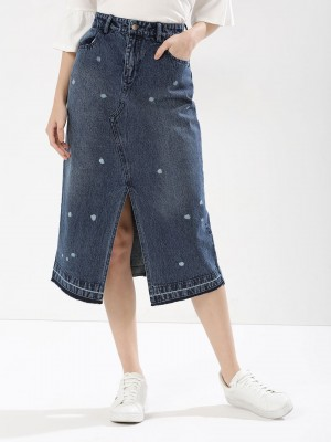 KOOVS Denim Midi Skirt...
