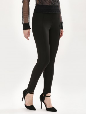 KOOVS Pintuck Stirrup Leggings...