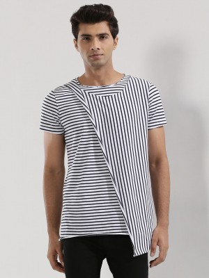 MR BUTTON Striped T-Shirt With...