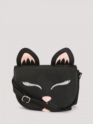 KOOVS Cat Saddle Sling Bag...