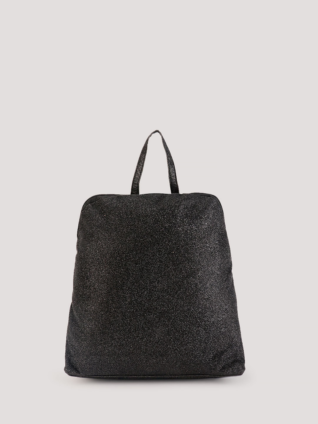 KOOVS Black Zipper Top backpack 1