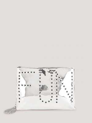 KOOVS Eyelet Clutch Bag...