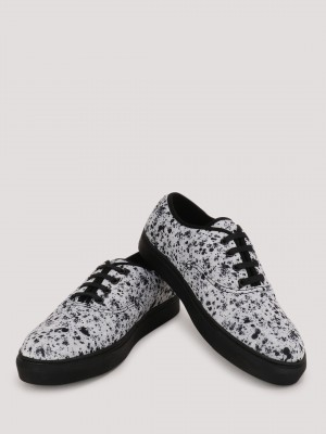 KOOVS Splatter Print Lace Up P...