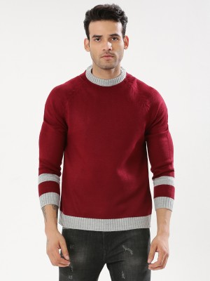 KOOVS Sweater With Contrast Pa...