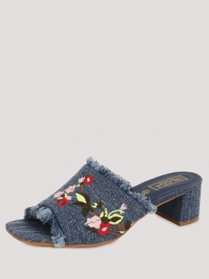 TRUFFLE COLLECTION Denim Embro...