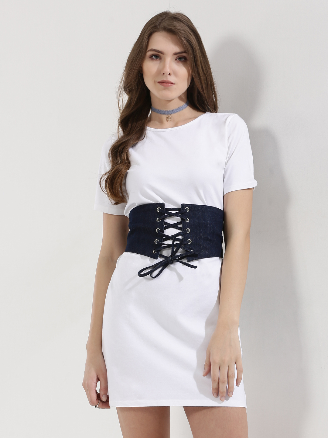 KOOVS 2 In 1 Corset Belt Dress