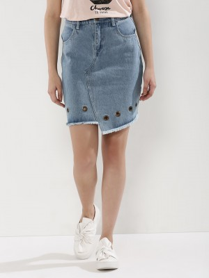 KOOVS Denim Mini Skirt...