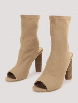 No Doubt Sock Fit High Ankle Boots