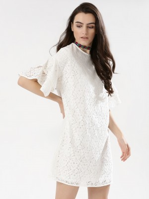 KOOVS Lace Ruffle Dress...