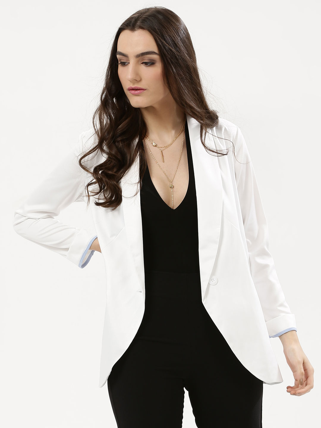 Influence White Luxe Blazer 1