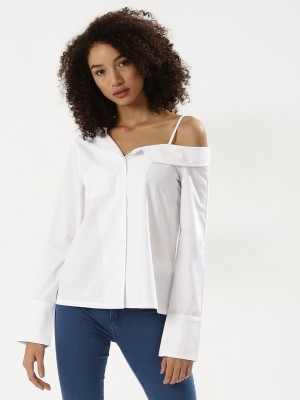 KOOVS Asymmetric Shirt...