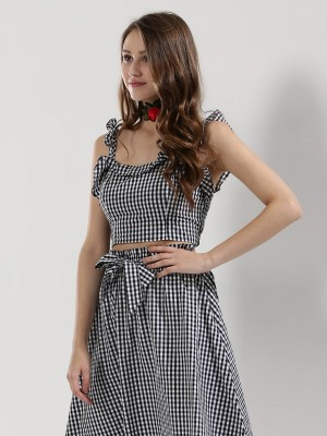 SBUYS Gingham Bralet...