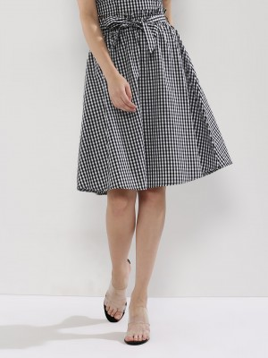 SBUYS Paper Bag Waist Gingham ...
