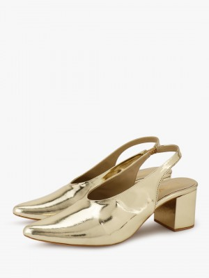 KOOVS V-Cut Sling Back Pumps...