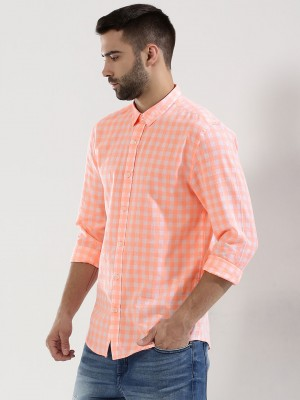 KOOVS Check Shirt With Slim Co...