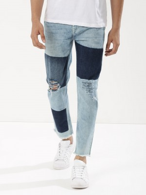 K DENIM Slim Jeans With Contra...