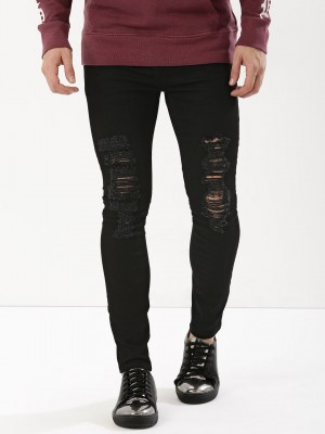 K DENIM Super Skinny Ripped Je...