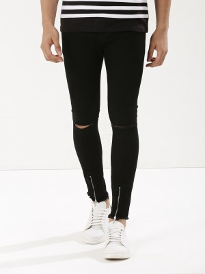 K DENIM Knee Slit Super Skinny...