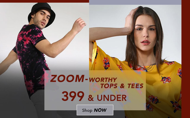 Zoom-Worthy Tops & Tees 399 & Under