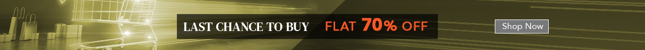 Last Chance To BuyFlat 70% Off